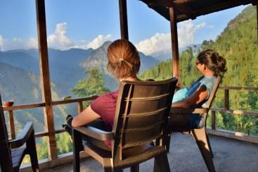 Ejoying the veranda