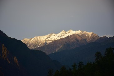 The Great Himalayan National Park seen from the Homestay